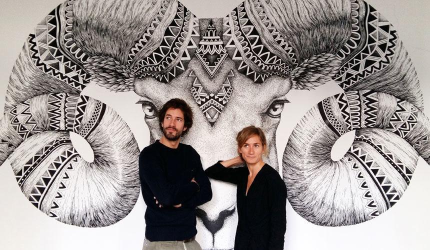 Alex et Marine x Carré Blanc : quand textile et street art se rencontrent